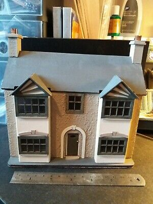 1/48th scale dolls house 1930s style built from petite properties kit furnished