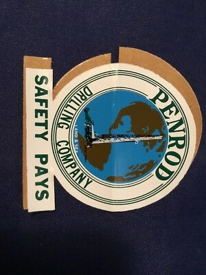 PENROD Oil Rig gas Hardhat Sticker Decal Advertising Oilfield Offshore Drilling