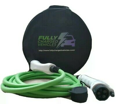 EV charger cable Type1 to Type2. 5M 32A charging up to 7.5 kwh. FAST CHARGING.