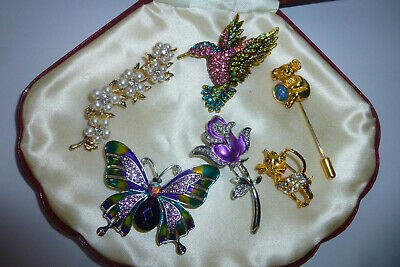 Vintage Jewellery This Is A Nice Mixed Job Lot Of Brooches Pins Various Eras