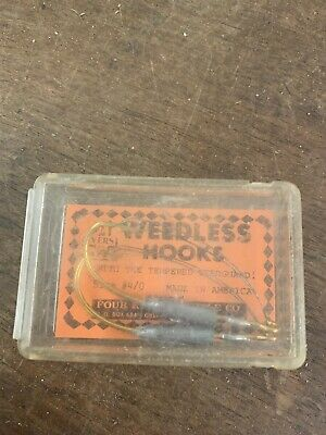 Vintage Metal Weedless Pair of Fish Hooks