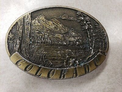 Colorado Rocky Mountains Spec Cast Vintage Belt Buckle