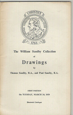 Christie's Auction Catalogue William Sandby Collection Of Drawings 1959