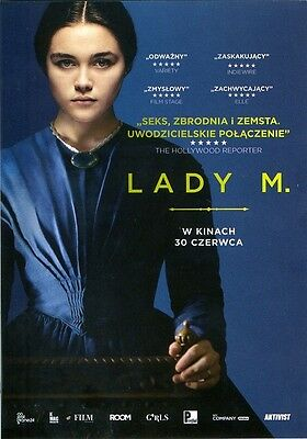 Florence Pugh Paul Hilton - Lady Macbeth - Polish promo FLYER
