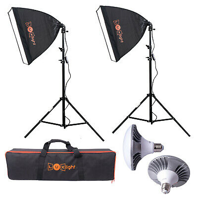 Pro LED Softbox Lighting Kit | Luxlight ® | Photo Video Studio Continuous Set