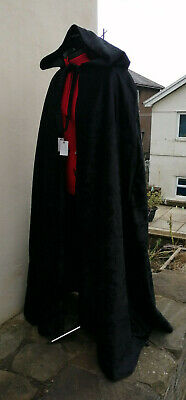 hooded cloak black velvetsuper crush more colours available  introductory price