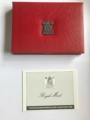 1989 Royal Mint Deluxe Proof Coin Set Includes Rare Bill & Claim of Rights £2