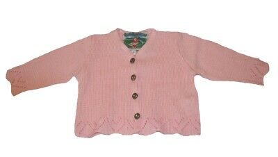 Girl Cardigan for Uniform in Pink Size 74 80 86