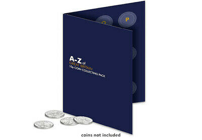 2018 UK A-Z 10p Collector's Pack for alphabet ten pence coins, new.