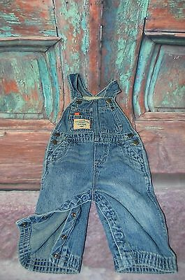 Genuine Baby from Oshkosh Jean Overalls 9 months Girls or Boys B4