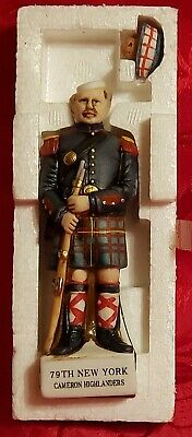 VERY RARE~Grenadier Mini Soldier 79TH NEW YORK CAMERON HIGHLANDERS Decanter~1975