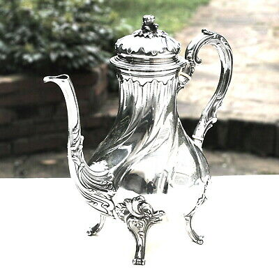 Nice French TEAPOT in STERLING SILVER 19th Century, SUPERB CONDITION 740 Grams
