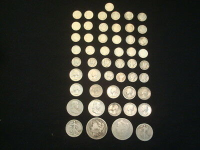 $10 Face Value Lot Of 90% Silver U.s. Coins Mixed Variety L15
