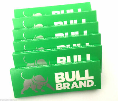 Bull Brand Green Cigarette Rolling Papers CUT CORNERS 50 Leaves Each Pack NEW