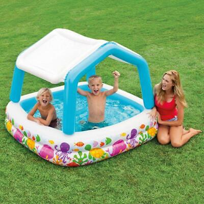 Garden Childrens Baby Toddler Sun Shade Inflatable Pool Drain Plug Toys Games
