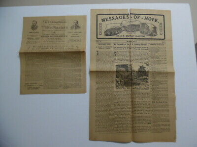 1903 Dr. D.P. Ordway's Plasters Quack Patent Medicine Brochure Message of Hope