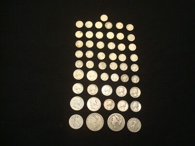 $10 Face Value Lot Of 90% Silver U.s. Coins Mixed Variety L8