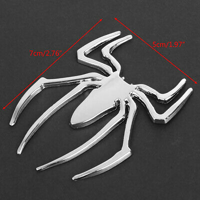 Popular Metal Spider Shape Emblem Chrome 3D Car Truck Motor Decal Sticker DIY CN