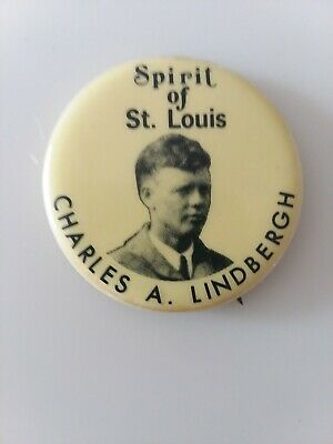 Charles Lindbergh Spirit Of St Louis Collectible Pin Button