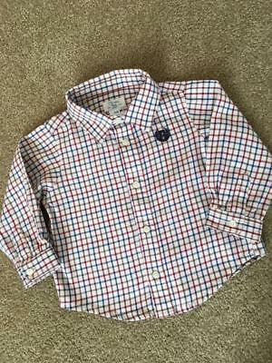 EUC Ralph Lauren CHAPS Long Sleeve Button Down Shirt Baby Boy Size 6 M
