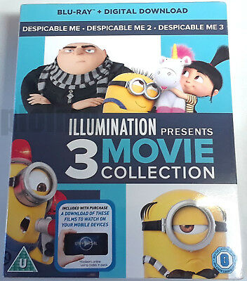 DESPICABLE ME 3-MOVIE COLLECTION Brand New BLU-RAY Set 1 2 3 Trilogy ALL 3