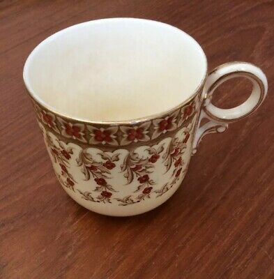 Yellow Demitasse Cup, with Flower Design, Royal Worchester