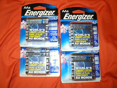 32 Energizer ULTIMATE Lithium AA Batteries  12-2037 exp