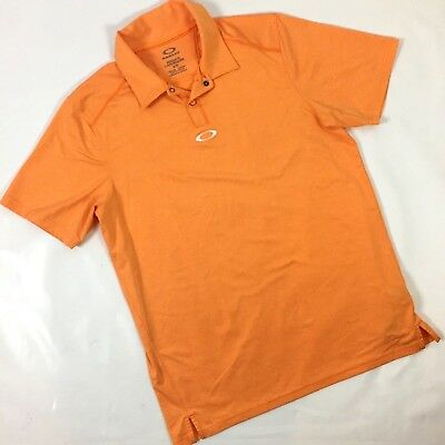Oakley Mens Polo Shirt Hydrolix Small Regular Fit Golf Embroidered Spell Out