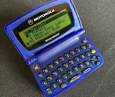 Motorola TalkAbout Two-Way Pager Beeper w/ Belt Clip, Working Powers On