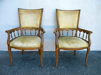 French Pair of Living Bed Room Fireplace Side Chairs 5357A