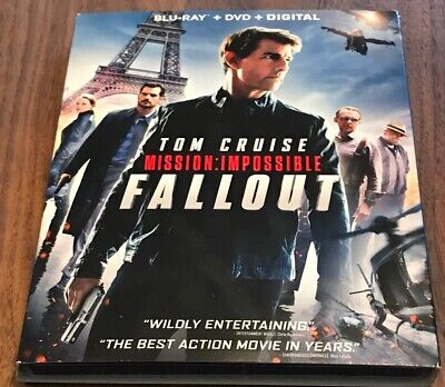 Mission: Impossible Fallout (Blu-ray + DVD + Digital)  NEW SEALED W/ SLIPCOVER