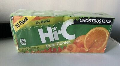 Hi-C Ecto Cooler Reissue Limited Release 10 PACK Juice Boxes GHOSTBUSTERS Slimer