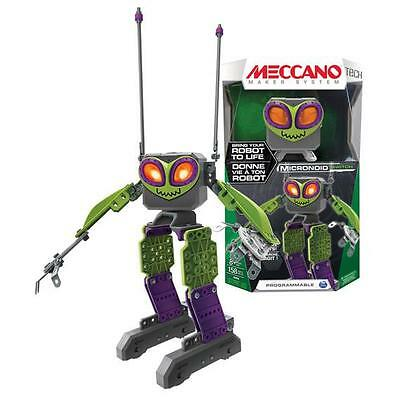 MECCANO MicroNoid Personal ROBOT, 139 Pcs Programmable ROBOTIC TOY, Green Switch