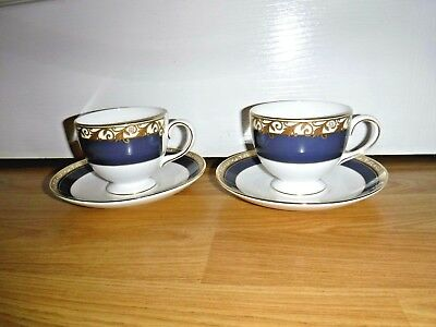 Pair of Wedgwood Rococo TeacupS & Saucers ~ Brand New ~ 1st Quality