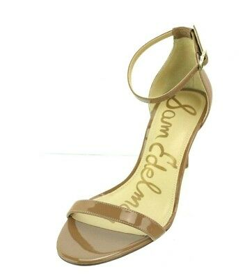 ac3b9f2ee Women s Sam Edelman Patti Caramel Patent Ankle Strap Heeled Sandals Size  7.5 W