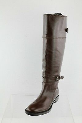 fc7308b0f3f6 Women s Enzo Angiolini Eero Brown Leather Knee High Riding Boots Size ...