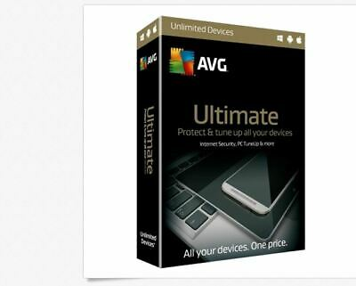 AVG 2019 Ultimate Protection 2 Years Unlimited Devices Digital Delivery ✔✔✔✔✔