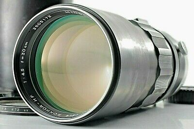 *As-Is* Minolta MC TELE ROKKOR HF 300mm 30cm f/4.5 MD Telephoto Lens w/case