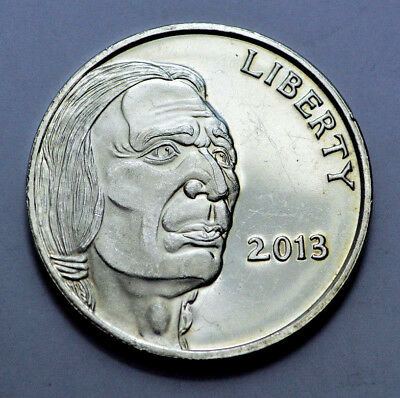 RARE 2013 1 OZ .999 SILVER Round INDIAN BUFFALO LIBERTY United States of America