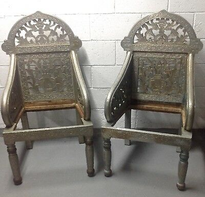 Rare pair of beautiful Moroccan Thrones Circa early 1900's.