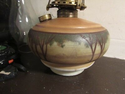 Antique Arts And Crafts Painted Hanging Lamp Font