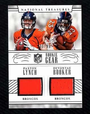 size 40 41c96 80685 ET) 2016 NATIONAL Treasures Paxton Lynch & Devontae Booker Jersey Relic  35/99 RC