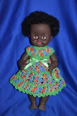 ~ African American Plastic Doll  ~ Unmarked ~