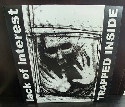 Lack Of Interest v1 Trapped Inside T-shirt black powerviolence all sizes S-5XL