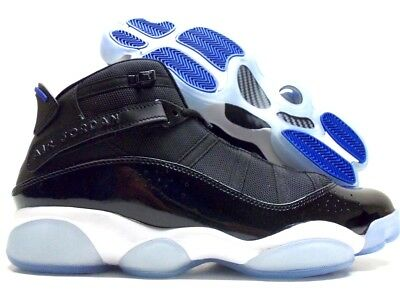 4badf5a52a804 JORDAN 6 RINGS Space Jam Black Hyper Royal Blue Shoes 322992-016 Sz ...
