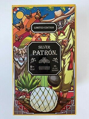 Patron Silver Limited Edition Tin Tequila Mexican Decorative Art EMPTY
