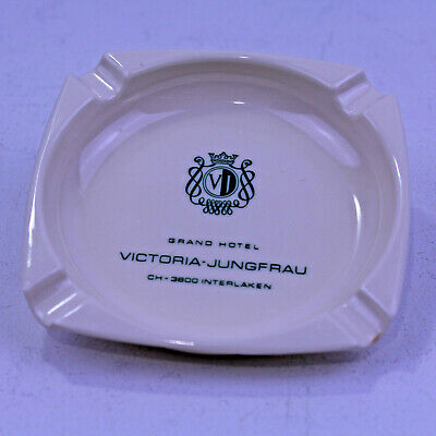 Vintage Grand Hotel Victoria-Jungfrau Interlaken Souvenir Ashtray Switzerland 4""