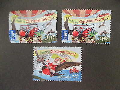 -2013  Christmas  Island  Chris;   Issues   3   Stamps  -Used- A1  --Both  Perf;