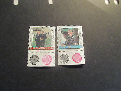 1--1996 Christmas  Island  --Royal  Wedding  2 Stamps --Cto -A1