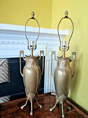 Neo-Classical Bronze Gilt Urn Form Lamps In The Style Of Barbedienne, Levillain